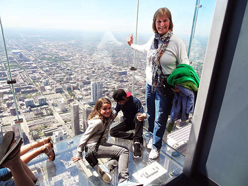 The Skydeck in the Willis Tower in Chicago