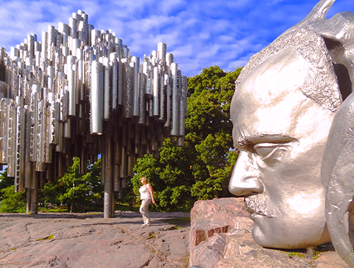 The Sibelius Monument in Helsinki