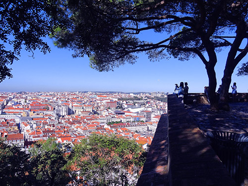 View over Lisbon from St. George's Castle in Lisbon