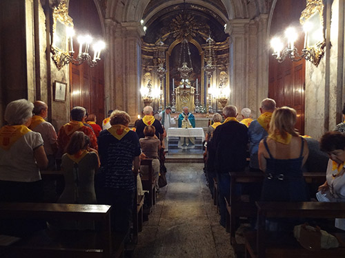 Mass in the Sé in Lisbon