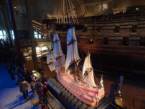 The scale model of the Vasa in Stockholm