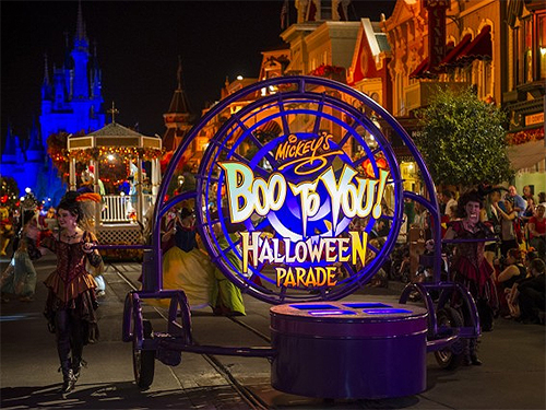 Halloween parade at Disney World