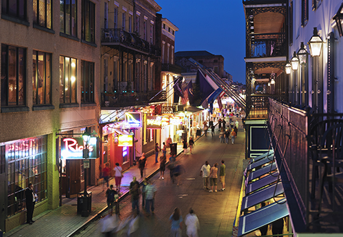 Bourbon Street in New Orleans / photo: NewOrleansOnline.com/Cosmo Condina