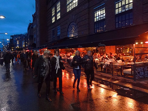 Restaurants on Aker Brygge in Oslo