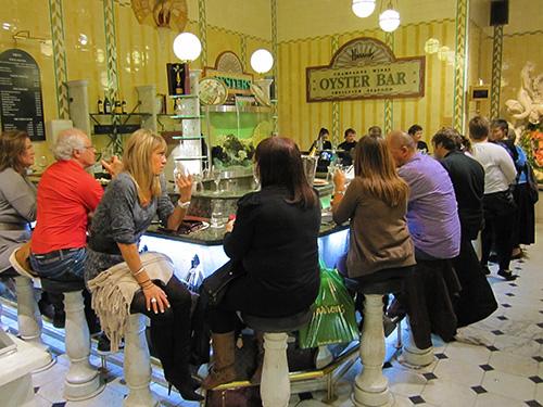 Harrods Oyster Bar, London in European Food Halls