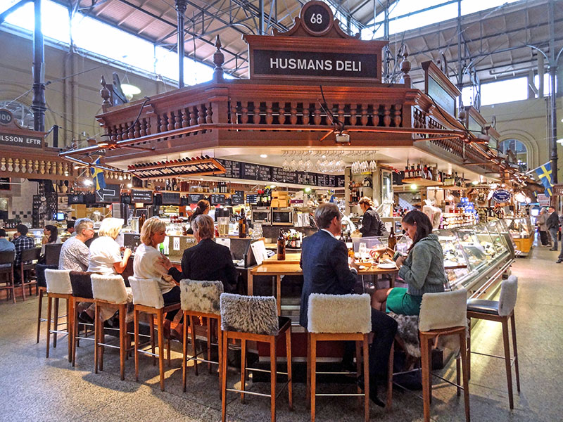 Stockholm's Östermalm Food Hall, one of the great food markets in Europe