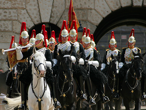 Watch the horse guards on parade, one of the free things to do in London