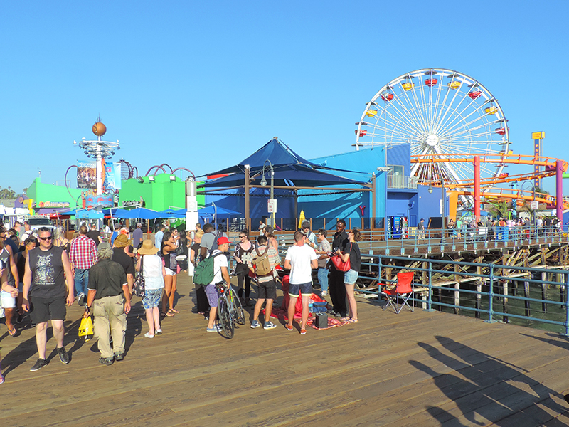 people on the Santa Monica Pier, a beloved LA Landmark