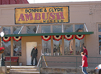 Bonnie & Clyde Ambush Museum in Shreveport / photo: Johnny Wessler