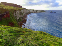 The wild coastline in Ireland