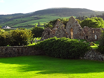 Ruins near Ballycastle in Ireland