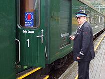 Conductor on the Fläm Railway