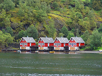 Shoreline of the Naeroyfjord near Fläm