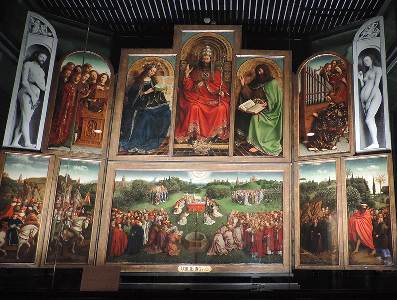 a colorful religious painting