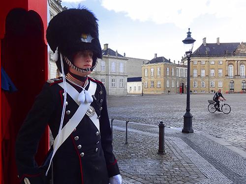 Amalienborg Palaca in Copenhagen