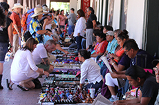 Vendors on Santa Fe Plaza / photo: Tony Tedeschi