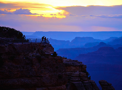 Sunset at the Grand Canyon, one of the UNESCO sites in the USA