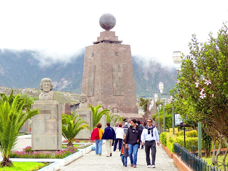 people walking in Ecuador