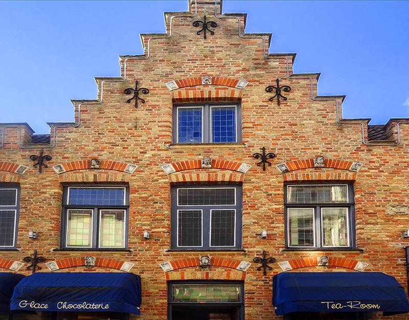 facade of an old brick building