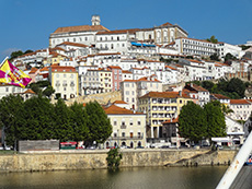 A view of Coimbra from the river