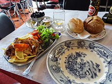 A taverna meal in Coimbra