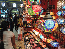 A lamp shop in the Grand Bazaar in Istanbul