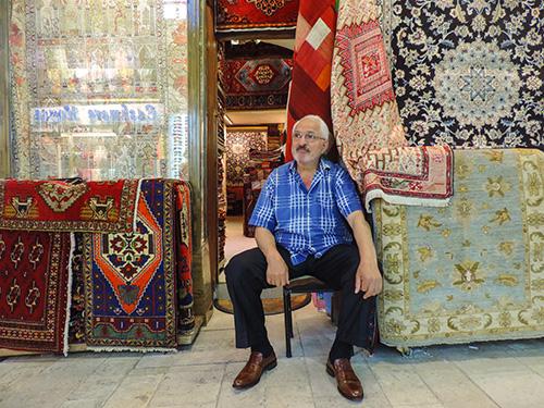 A carpet salesman in Istanbul's Grand Bazaar in Istanbul
