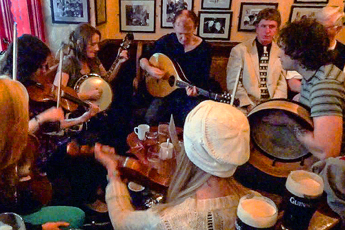 Musicians in a Galway pub