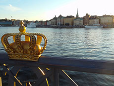 View of Gamla Stan from Skepps-holmsbron in Stockholm