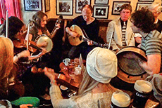 Traditional Irish music in a Galway pub, Ireland