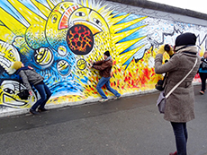 Painting on Berlin Wall, East Side Gallery, Berlin, one of the Top Free Things To Do in Europe