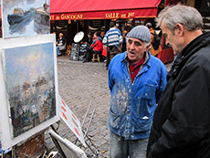 Artist in Montmartre, Paris, France