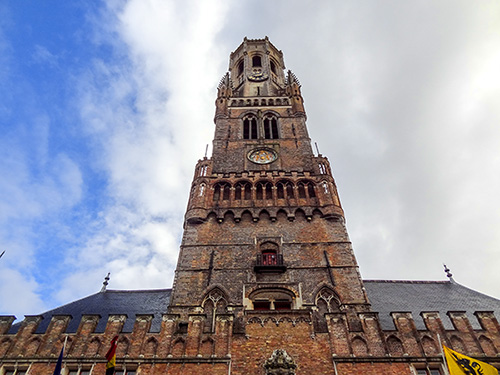 tall brick tower -- the Belfry in Bruges