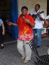 a singer at a Havana cafe in Havana