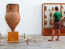 Large amphora at the Archaeological Museum