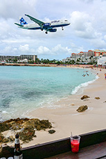 Watching the planes land on St. Martin / photo: Marcia Levin