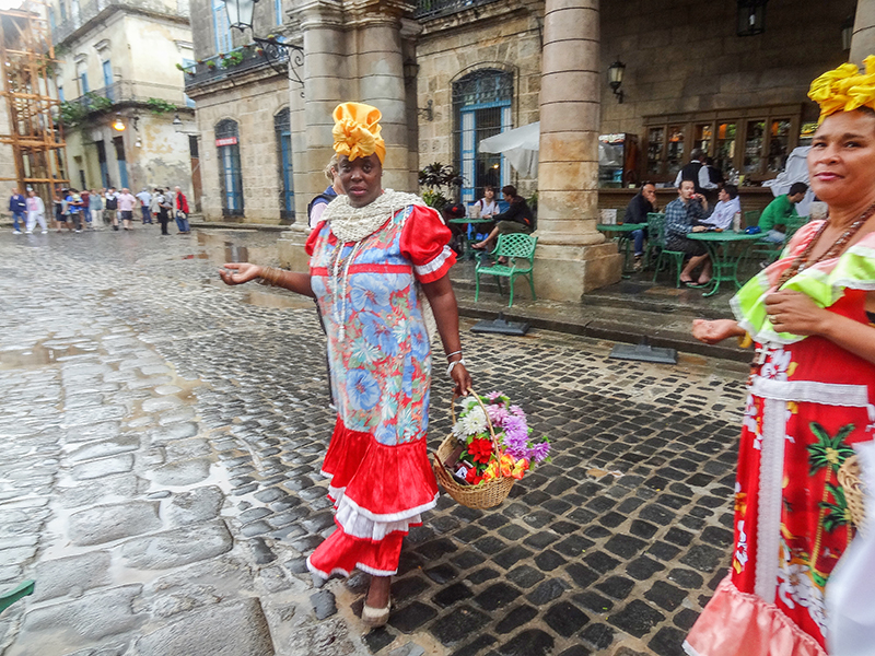 women in colorful dress Havana