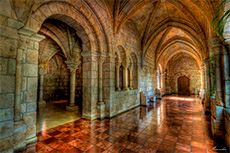 Cloisters in an old monastery in Miami