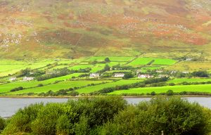 farm houseson the Ring of Kerry in Ireland