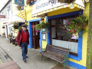 a brightly ainted shopon the Ring of Kerry in Ireland
