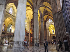 high vaults inside a large cathedral