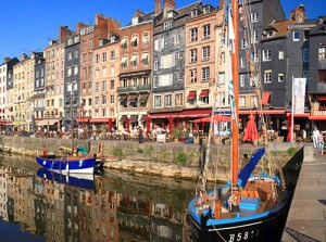 boats in a harbor in Europe