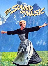 An old Sound of Music movie poster in Salzburg