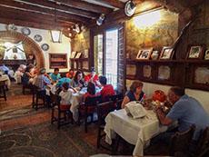 people in a restaurant in Segovia
