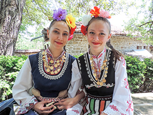 Dancers in Arbanassi, Bulgaria in Eastern Europe