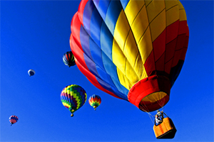 hot air balloons in the air in Florida
