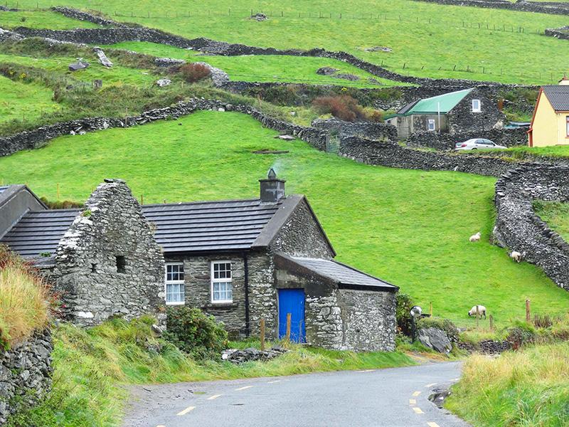 old stone houses - the Dingle Peninsula