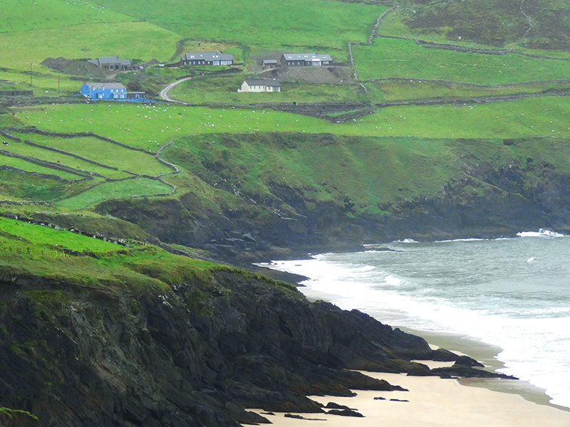waves hitting cliffs on the Dingle Peninsula - Dingle Ireland