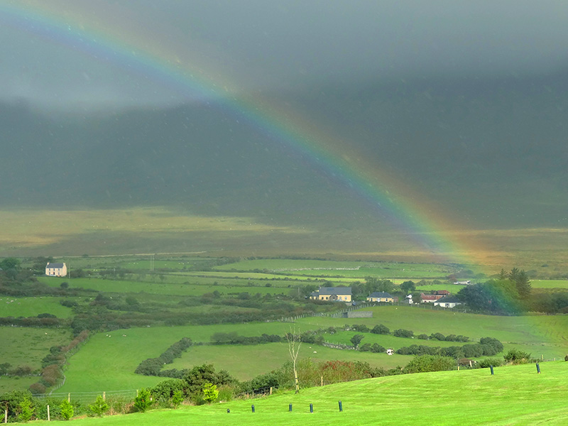 A rainbow on the Dingle Peninsula - Killarney
