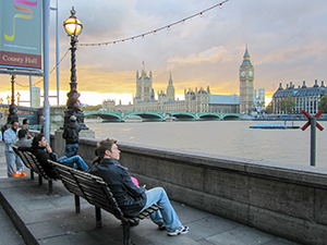view of London in Europe
